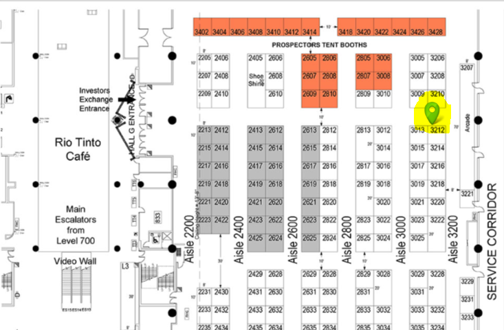 PDAC 2020 exhibit map