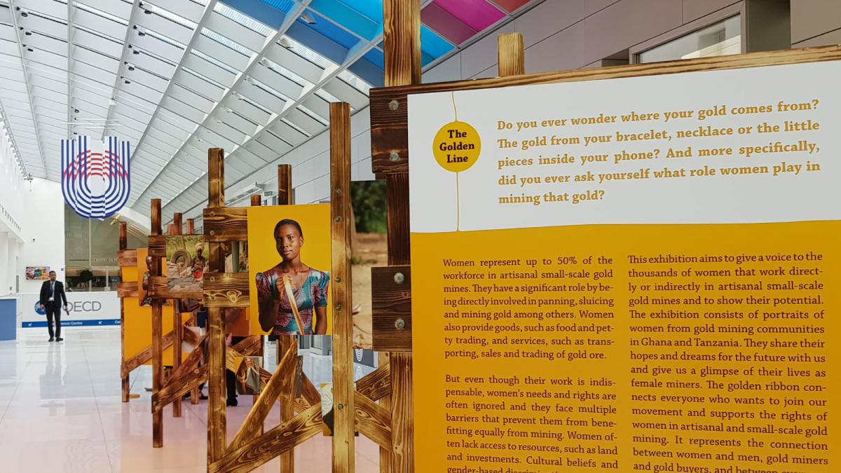 Solidaridad image: The Golden Line exhibition at 2019 OECD meeting