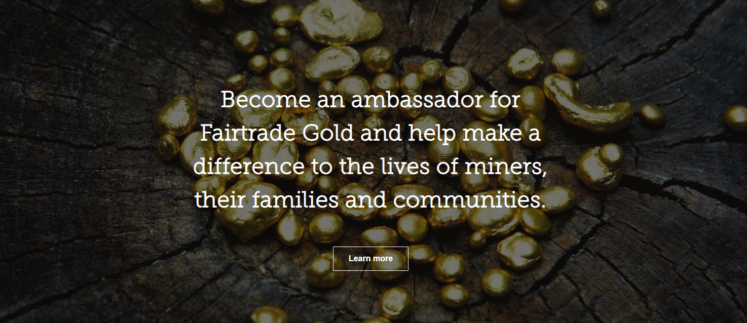 Fairtrade Gold Ambassadors page screenshot