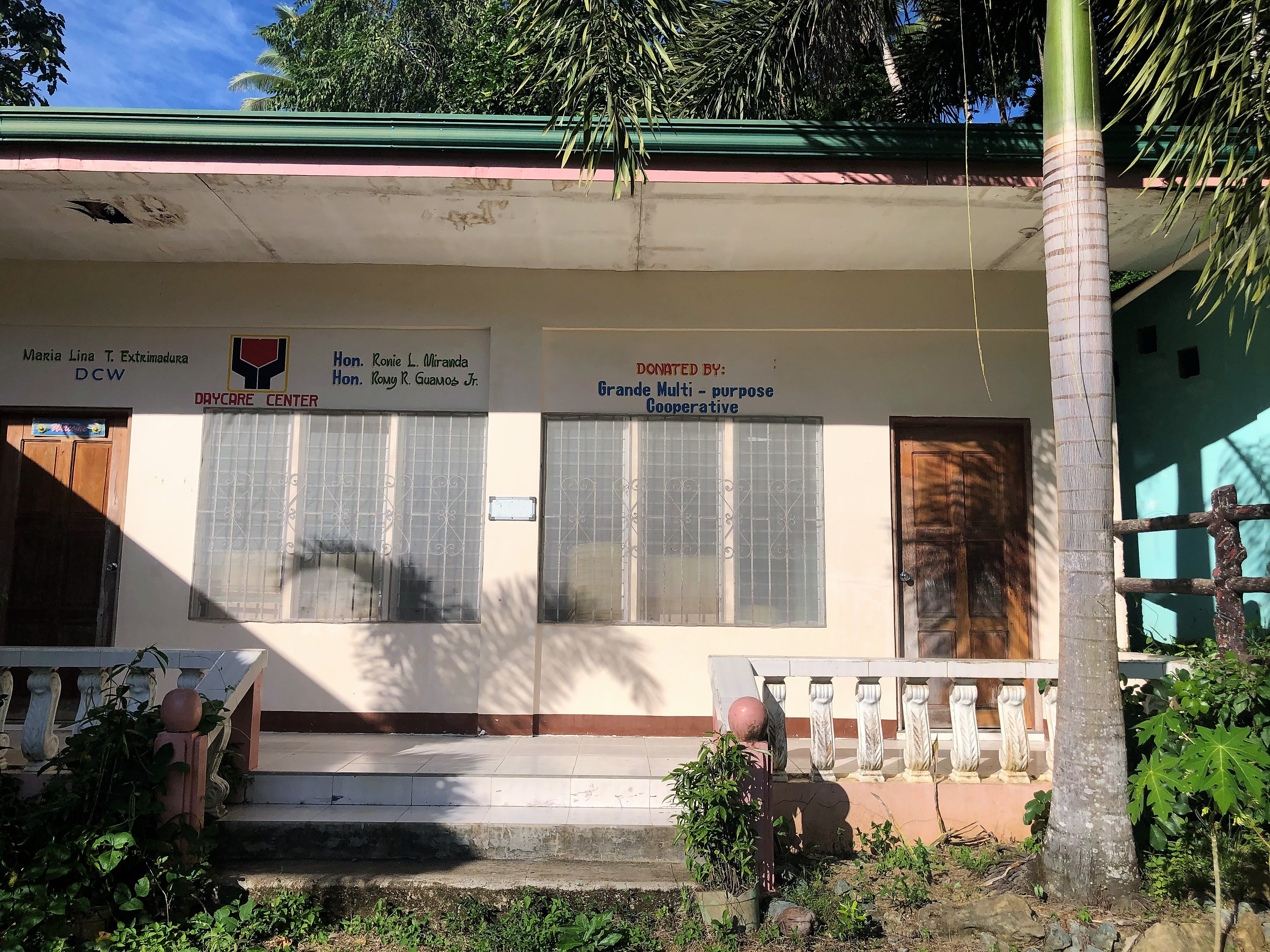 One the buildings donated by Grande Multipurpose Cooperative used as a day care center for Brgy. Bulo, Buenavista