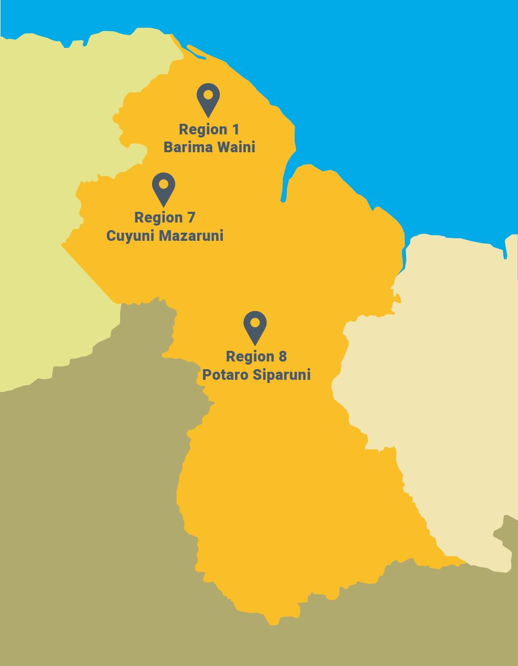Mapa del sitio para planetGOLD Guyana
