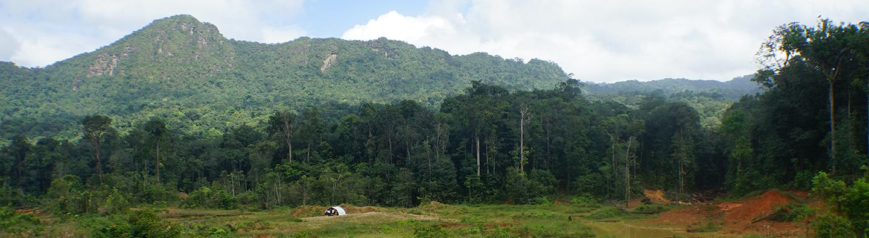 Paisaje del área minera de Guyana