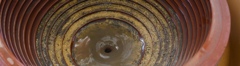 Dentro de un concentrador de kacha de oro