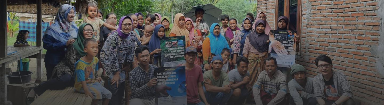 Campaña de concienciación sobre el mercurio con mineros y aldeanos en Sekotong Lombok Indonesia