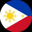imagen redonda de la bandera de Filipinas