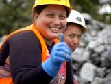 Mujeres mineras en Ecuador