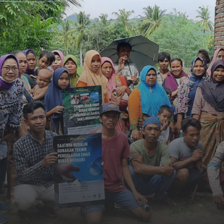 Mercury awareness campaign with miners and villagers in Sekotong Lombok Indonesia