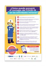 Afiche ¿Cómo prevenir el contagio del COVID-19 en las actividades mineras?