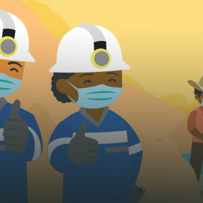 Imagen animada de mineros