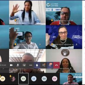Captura del evento de socialización del proyecto planetGOLD Colombia en Cauca