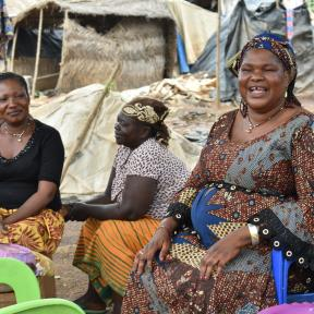 Burkina Faso women at mine site