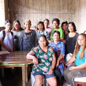 Meeting with women's group in Agusan del Sur Philippines