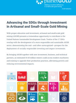 Cover of pamphlet on SDGs and ASGM