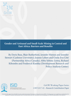 Gender and Artisanal and Small-Scale Mining in Central and East Africa: Barriers and Benefits cover image