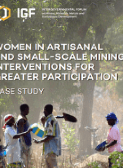 Women in Artisanal and Small-Scale Mining: Interventions for greater participation