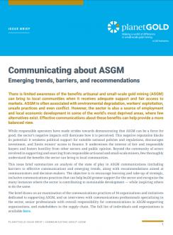 Imagen de portada de la comunicación del resumen del problema de ASGM