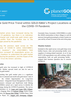 Indonesia project COVID-19 gold price fact sheet cover