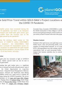 Proyecto de Indonesia COVID-19 cubierta de la hoja informativa del precio del oro