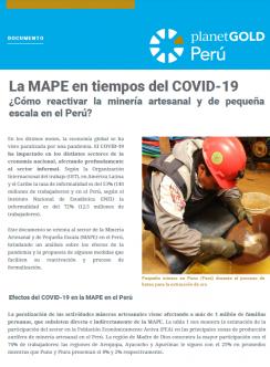 Imagen de portada para ASGM en tiempo del documento español COVID-19