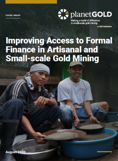 improving access to formal finance ASGM issue brief cover