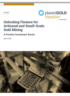 Unlocking Finance for ASGM report cover image