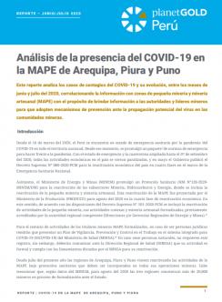 Imagen de portada - Peru analisis de la presencia del covid19 en la MAPE en Arequipa Piura y Puno Junio-Julio 2020