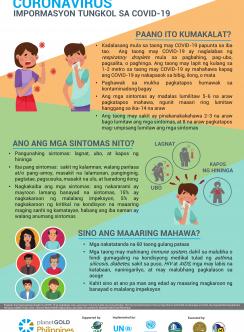 Imagen del cartel filipino de medidas preventivas COVID19