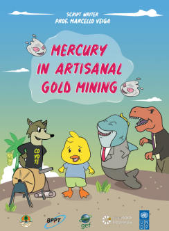 Mercury in artisanal gold mining comic book cover