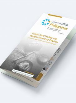 maqueta de planetgold folleto sobre comercio formal de oro