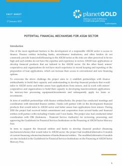 Ficha técnica del mecanismo de financiación potencial de pG Indonesia