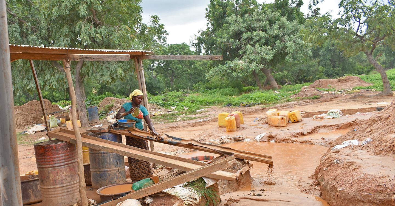 Esclusa de trabajo minero de Burkina Faso